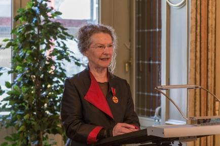 Die Geehrte: Dr. Christa Hartnigk-Kümmel